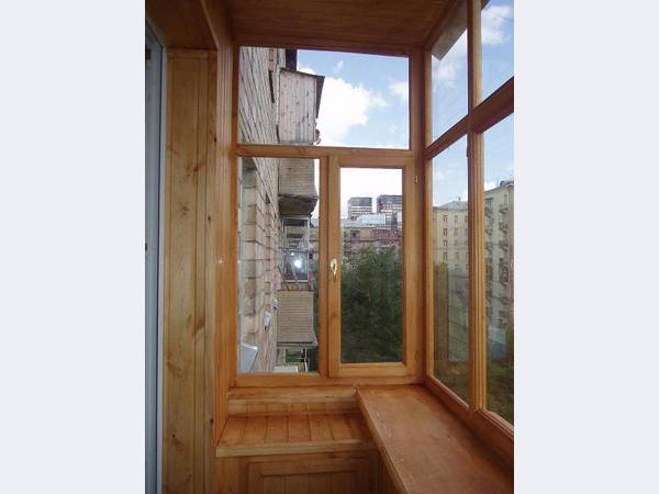 Сборка готовой лестницы к-001м - остекление балконов.